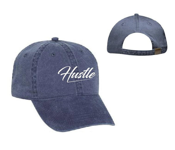 Hustle Hat Football Tail Gate Baseball Cap Unstructured Dad Hat Unisex Soft Washed Cotton Your Color Choice