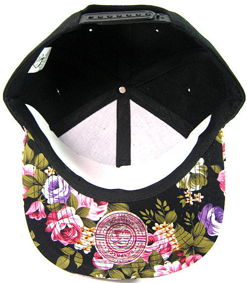 46019aef4 Blondie and Brownie Black and Pink Rose Floral Snapback Hats Cursive  Lettering Blonde and Brunette Hats Best Friend Snapbacks Flatbill Hats