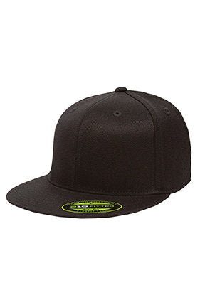 12287570 Custom Embroidery Flexfit Fitted Hat with Your Custom Print Flat Bill High  Profile Hat 6210