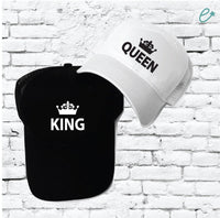 King and Queen Marriage Pair Couple Custom Trucker Hats Mesh Back Hats with Snapback Family