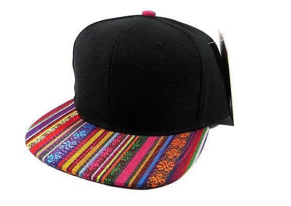 Custom Embroidery Aztec Snapback Multi Color Two-tone Aztec Hat Your Custom Text or Logo Red Yellow Purple Pink Blue Green