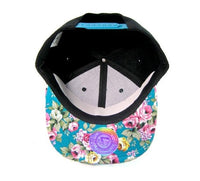 Bride and Mermaid Hats Couples Snapbacks Black and Floral Hats Couple Hats Bachlorette Bridal Party Hats