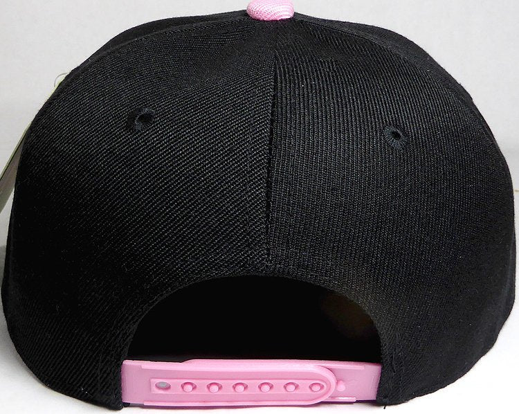 17c9f78b3 Blondie and Brownie Black and Pink Snapback Hats Cursive Lettering Blonde  and Brunette Hats Best Friend Snapbacks Flatbill Hats Couple Pair