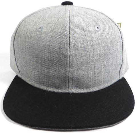 9058f3ed2e69d Custom Embroidery Snapback Hat Black and Heather Grey Embroidered Hat Your  Color Choice Custom Embroidery Two