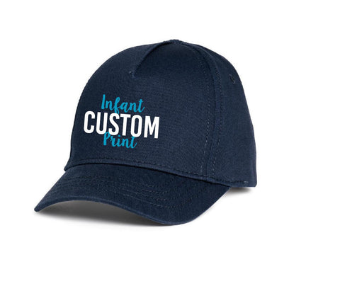 Navy Infant Hat Custom Embroidery Kids Hat Baseball Cap Personalized Baby Hat