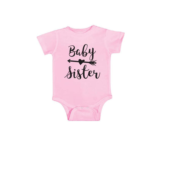Baby Sister Infant Tee Baby Bodysuit Custom Infant T-shirt Personalized Baby Fine Jersey Shirt Baby Funny Infant