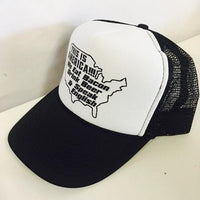This is America! We Eat Bacon Drink Beer and Speak English Trucker Hat Mesh Back Snapback Hat Your Color Choices