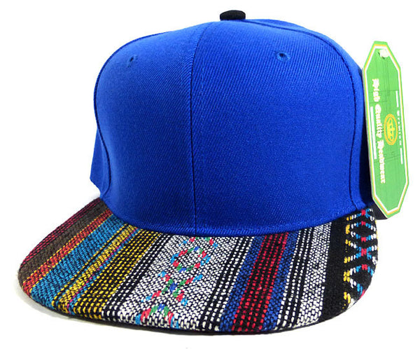 Custom Aztec Snapback Two-tone Aztec Royal Blue Hat Your Custom Text or Logo