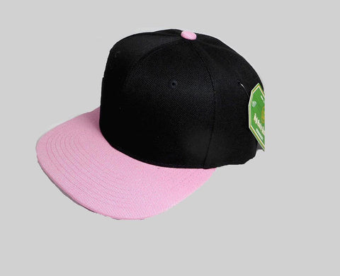 b69417fa1009e Custom Embroidery Snapback Hat Black and Light Pink Embroidered Hat Your  Color Choice Custom Embroidery Flat