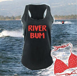 River Bum Tank Women's Racerback River Cover Up Gathered Back Tank Custom Tank Top Custom Personalized Fitted Tank