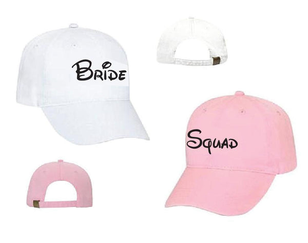 Bride Squad Unstructured Dad Hat Bachlorette Party Hats Wedding Party Bridesmaids Gifts