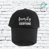 Family Over Everything Unstructured Dad Hat Fam First Hat Light Pink, Navy and White or Your Color Choice