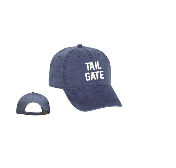 Tailgate Hat Football Tail Gate Baseball Cap Unstructured Dad Hat Unisex Soft Washed Cotton Your Color Choice