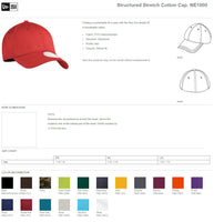 New Era Fitted Baseball Cap Custom Embroidery Your Custom Print Low Profile Fitted Hat NE1000 39 Thirty