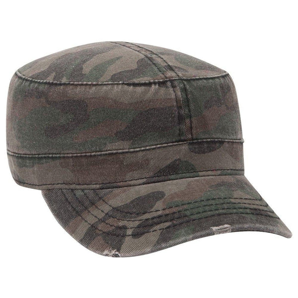 Your Custom Print Embroidered Hat Embroidery Cadet Camo Fidel Distressed Vintage Hat Sun Protection Shade Military Style