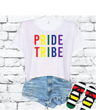 Pride Tribe Crop Top LGBT Shirt Equal Rights Graphic Tee Be Kind T-shirt