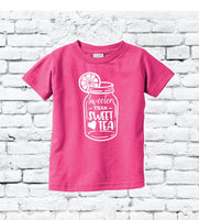 Sweeter than Sweet Tea Toddler T-shirt Funny Baby Tee Youth Your Color Choice Toddler Shirt Personalized Fine Jersey Tee