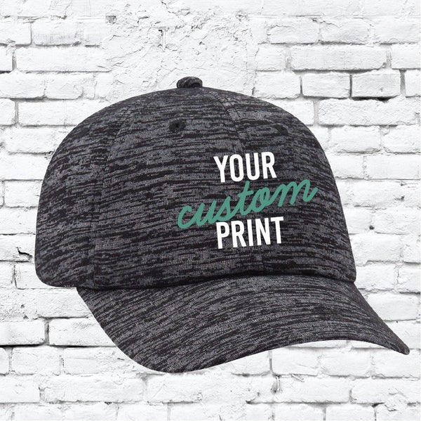 Custom Embroidery Black Burnout Dad Hat Black and Grey Hat Your Print
