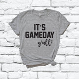 It's Game Day Y'all Tee Sunday Funday Football Shirt Fall Graphic Crew Neck T-shirt Custom Team Colors Shirt Relaxed