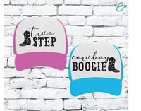Two Step Country Music Hats Couples Funny Trucker Hats Friends Hats Mesh Back Hats with Snapback