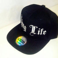 Thug Life Black and White Snapback Hat Flat Bill Snap back Adjustable