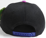 Custom Galaxy Print Block King and Queen Snapback Custom Colors Multicolor Snap Back