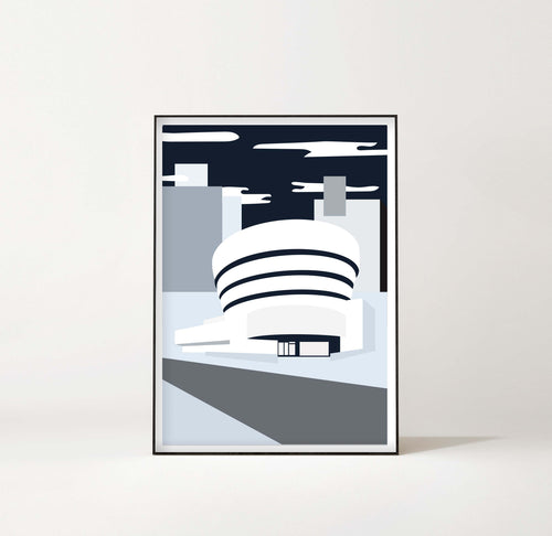 New York Art Print – Guggenheim by Sina Santihoff
