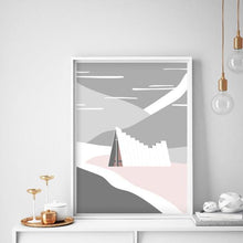 Art print of Ishavskatedralen (The Arctic Cathedral) in Tromsø by Sina Santihoff.
