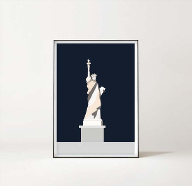 New York Art Print – Statue of Liberty / Frihetsgudinnen by Sina Santihoff