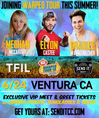 Vvip package w signed poster sunglasses 20 off merch more at ventura ca 624 w meghan vip meet greet m4hsunfo