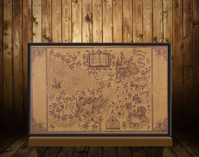 20.4x13.2 inches - Map of The Wizarding World of Harry Potter ...