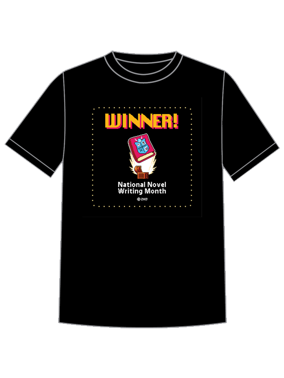 NaNoWriMo 2013 Winner Shirt