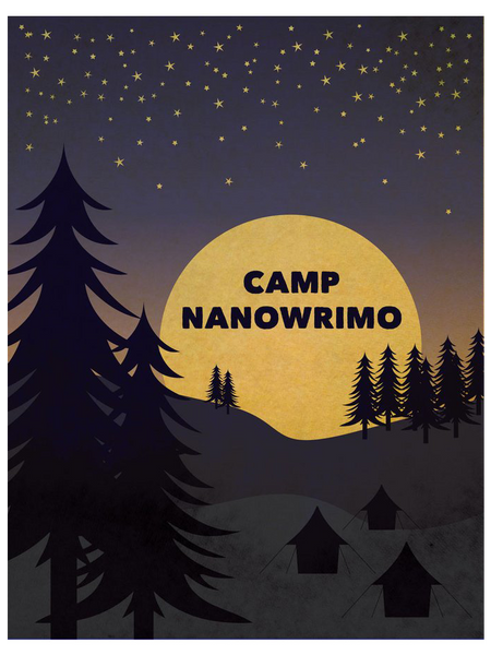 "Camp NaNoWriMo 2010 ""Moonrise"" Poster"