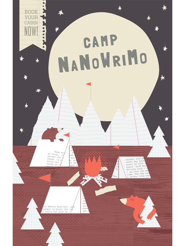 "Camp NaNoWriMo 2011 ""Hiding Bears"" Poster"
