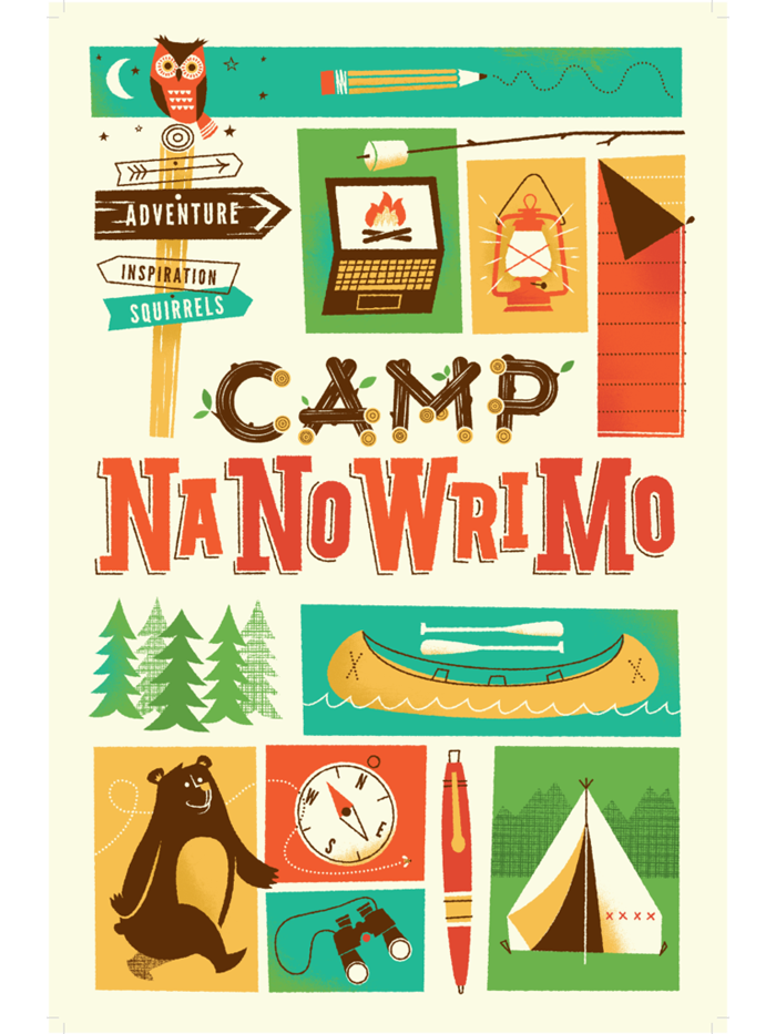 "Camp NaNoWriMo 2013 ""Adventure"" Poster"