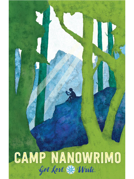 "Camp NaNoWriMo 2015 ""Get Lost; Write"" Poster"