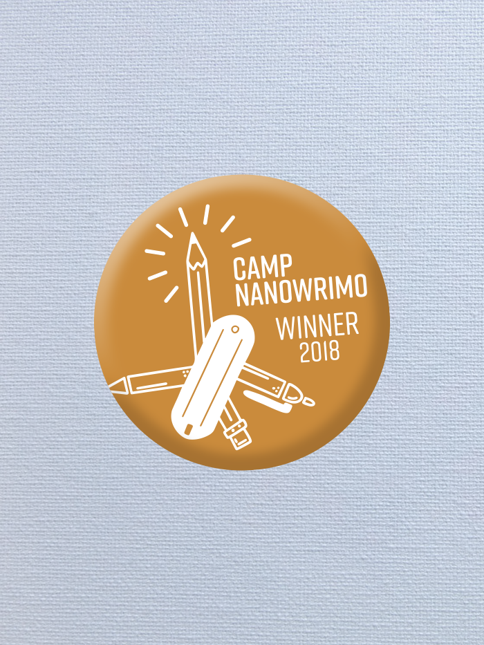 Camp NaNoWriMo 2018 Winner Button