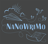 "NaNoWriMo ""Paper Airplane"" Long-Sleeve Shirt"