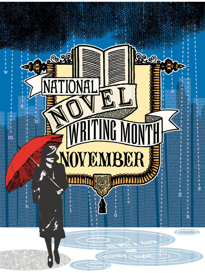 "NaNoWriMo 2005 ""Let Your Imagination Rain"" Poster"