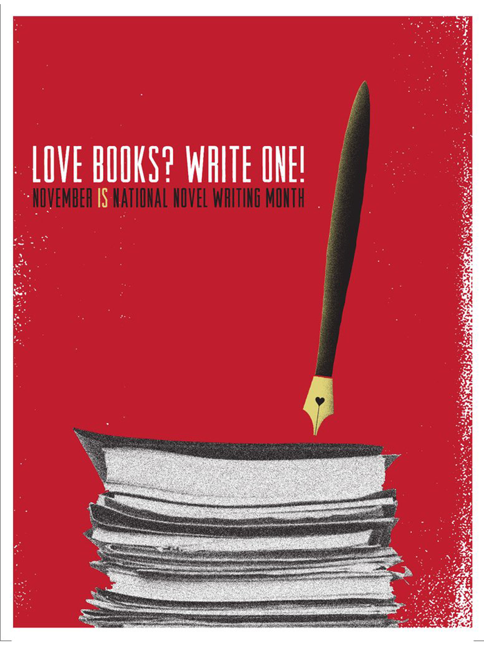 "NaNoWriMo 2009 ""Love Books?"" Poster"