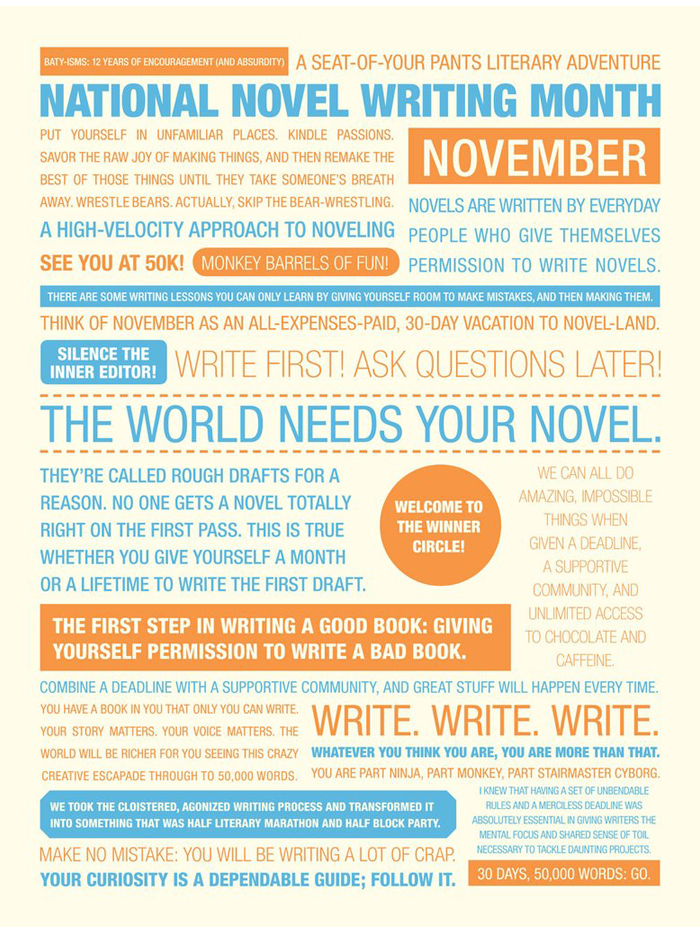 "NaNoWriMo 2011 ""Baty-isms"" Poster"