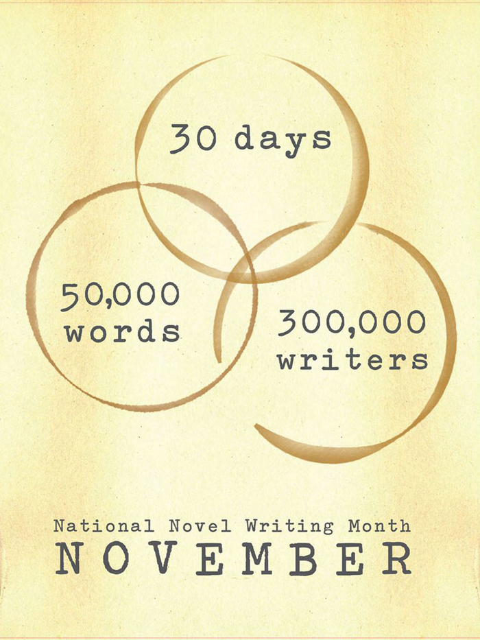 "NaNoWriMo 2012 ""Coffee Rings"" Poster"