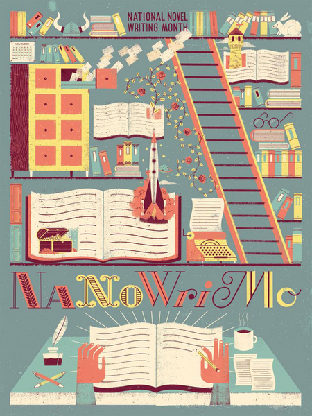 "NaNoWriMo 2015 ""Library"" Poster"