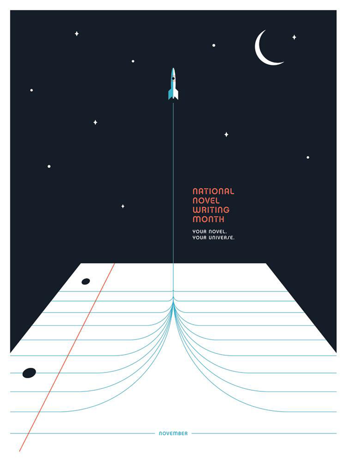 "NaNoWriMo 2016 ""Rocket Launch"" Poster"