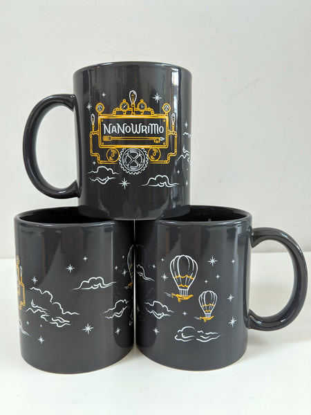 "NaNoWriMo 2019 GRAY ""Imaginative Airship"" Mug"