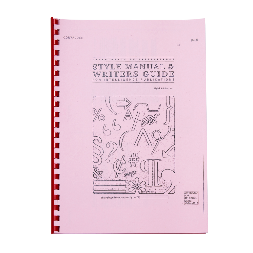 Style Manual And Writers Guide For Intelligence