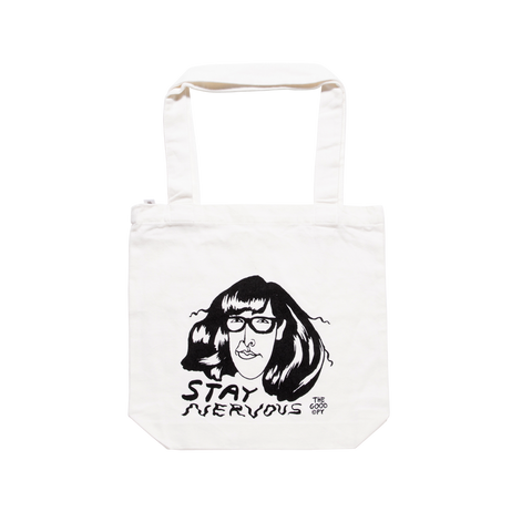 Stay Nervous tote bag