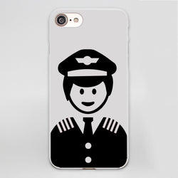 Funny Designed Airline Pilot iPhone Cases