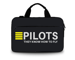PILOTS They Know How To Fly Printed Laptop & Tablet Bags and Cases