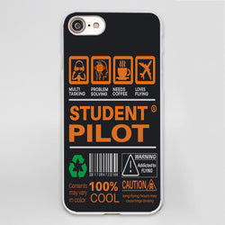 Student Pilot Label Designed iPhone Cases